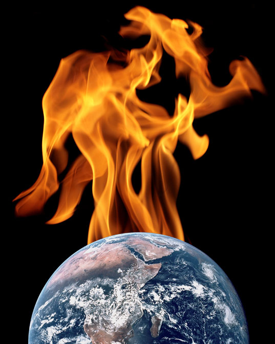 Earth on fire.