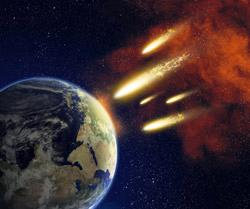 Shutterstock image of Earth and meteors