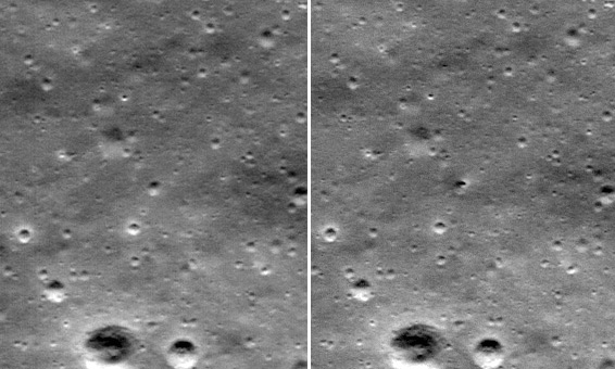new crater on the Moon