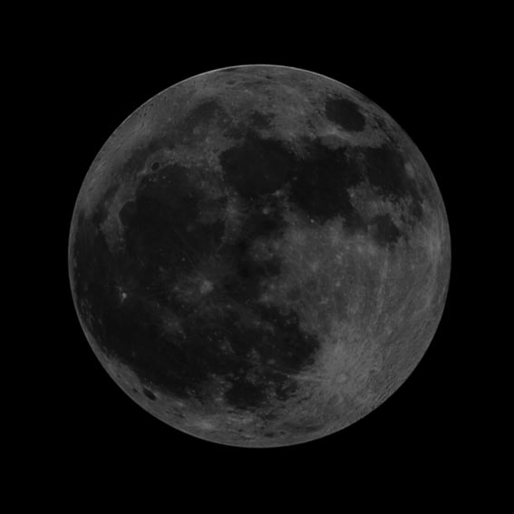 What does a waning gibbous moon look like