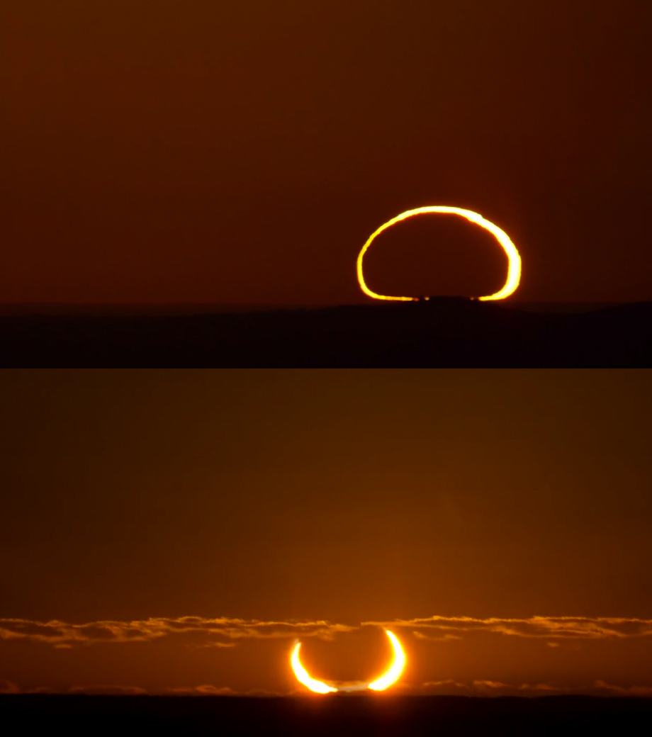 two solar eclipse pictures
