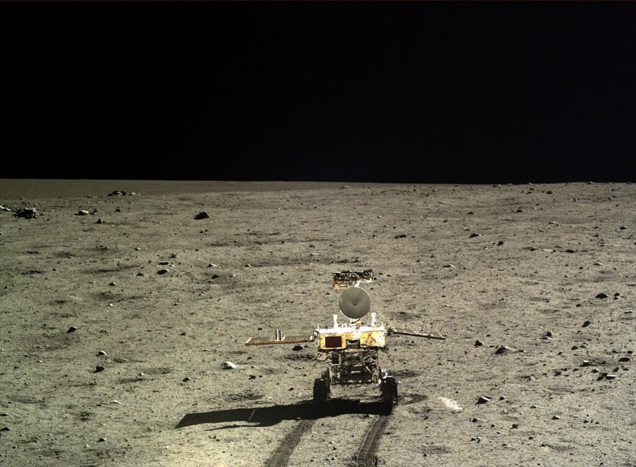 China's rover Yutu on the Moon