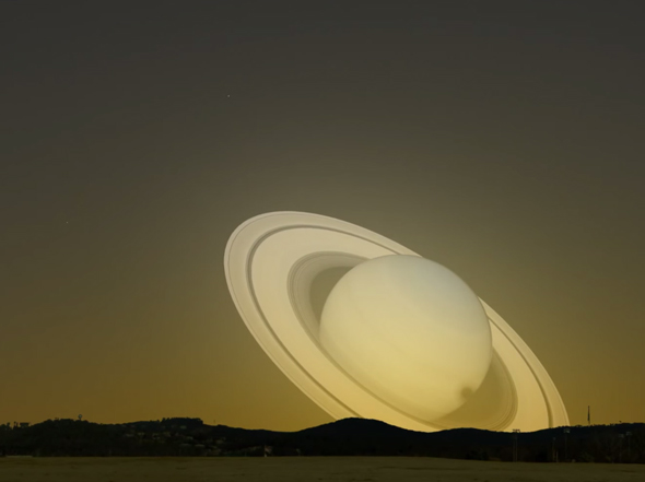 Close Encounter What If Saturn Swung By Earth