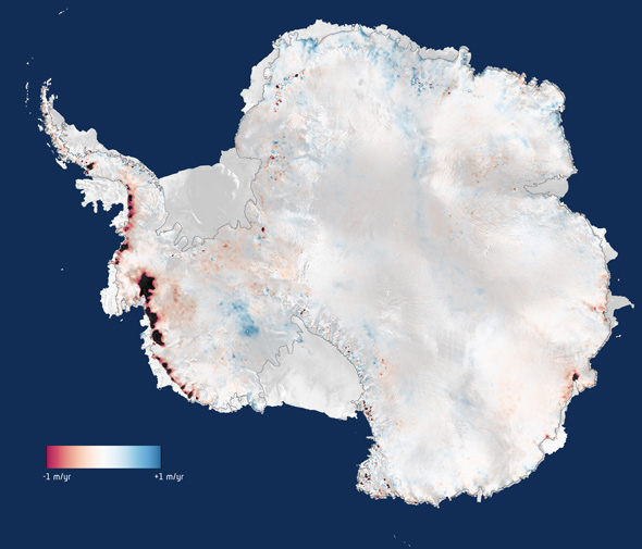 Antarctic ice loss