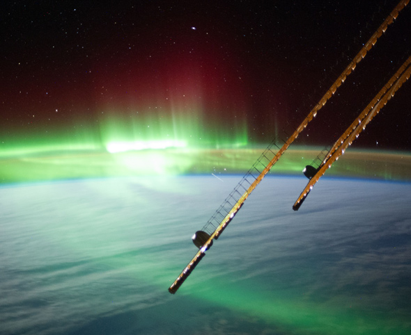 Aurora, ISS, Earth