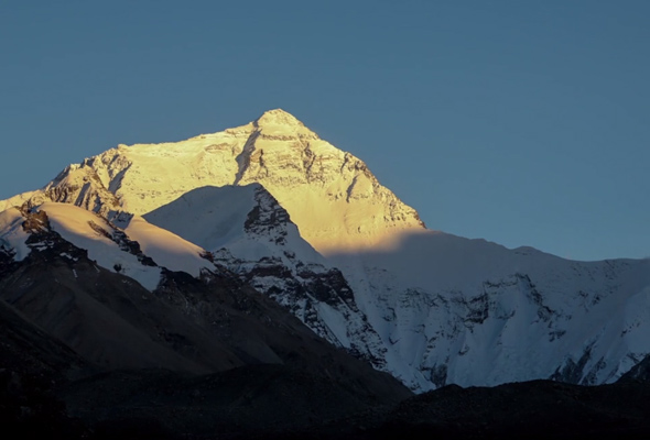 Mt Everest at sunset