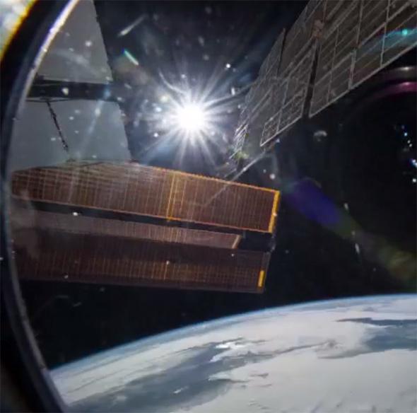 Sun form the ISS
