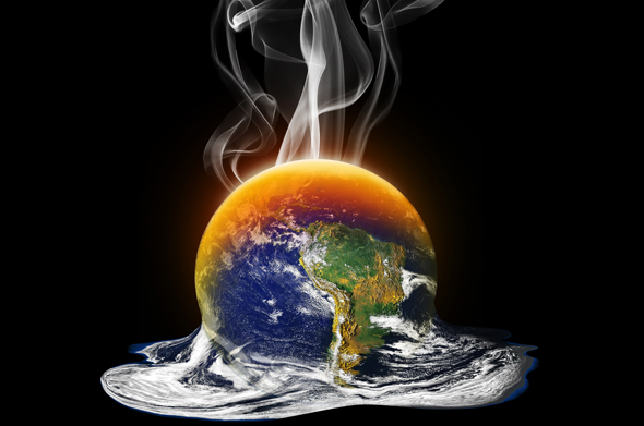 Image result for earth on fire from climate change
