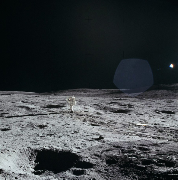Ed Mitchell on the Moon