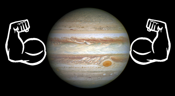 Jupiter with muscles