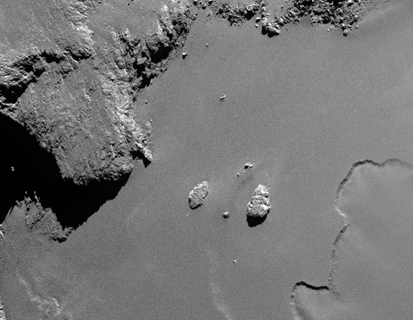comet surface