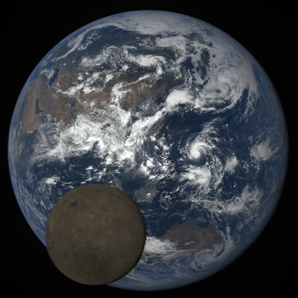 DSCOVR sees Moon passing in front of Earth from space.