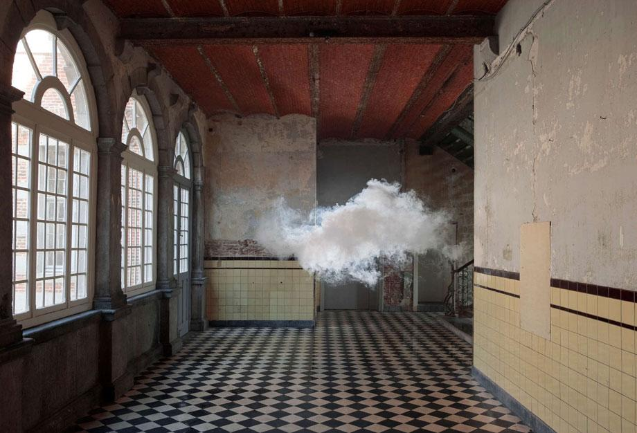 Berndnaut Smilde, Nimbus D'Aspremont, 2012, Cloud in room, c-type print on dibond, 125 x 184 cm, Photo Cassander Eeftinck Schattenkerk