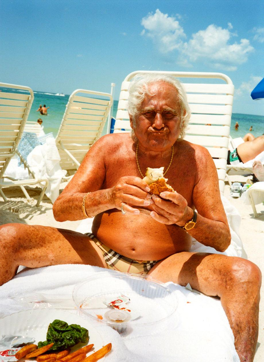 Grandpa Having Lunch, Naples, Fla., 2003