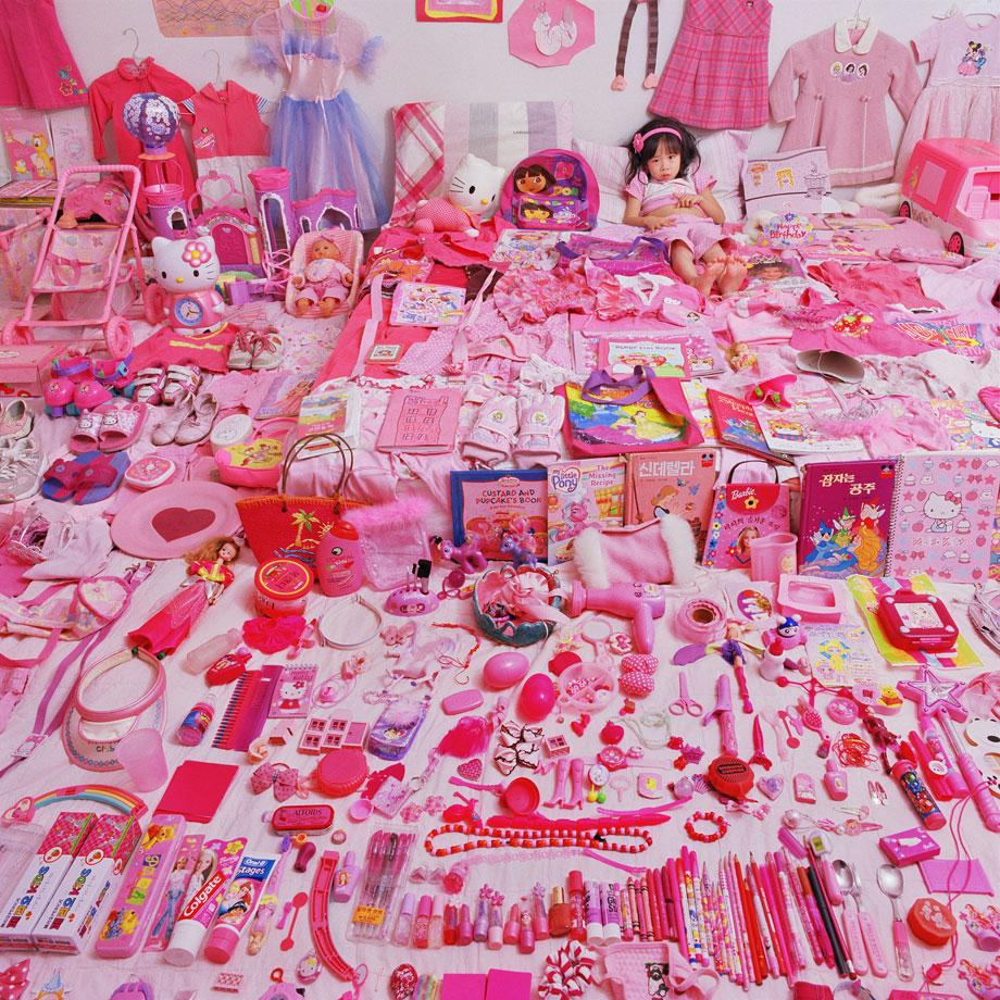 The Pink Project  - Seowoo and Her Pink Things, Light jet Print, 2005