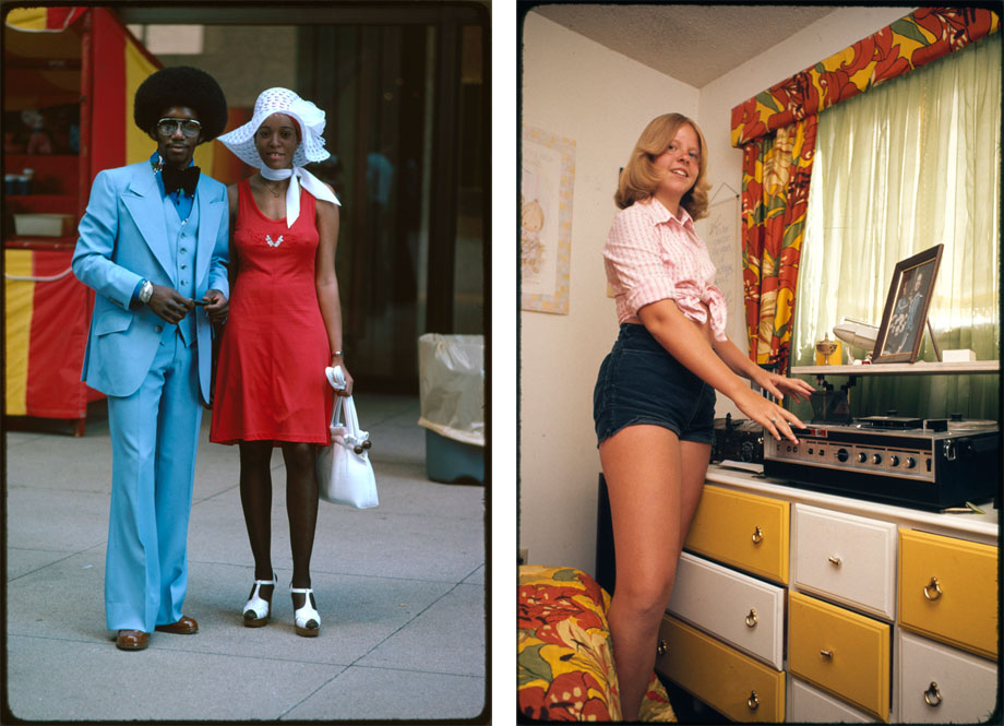 "Left: Photograph, ""Michigan Avenue, Chicago""July 1975Right: Photograph, ""Dana Jens in her bedroom,"" Meeker Colorado, July 1975Photographer: Holly Wiedman"