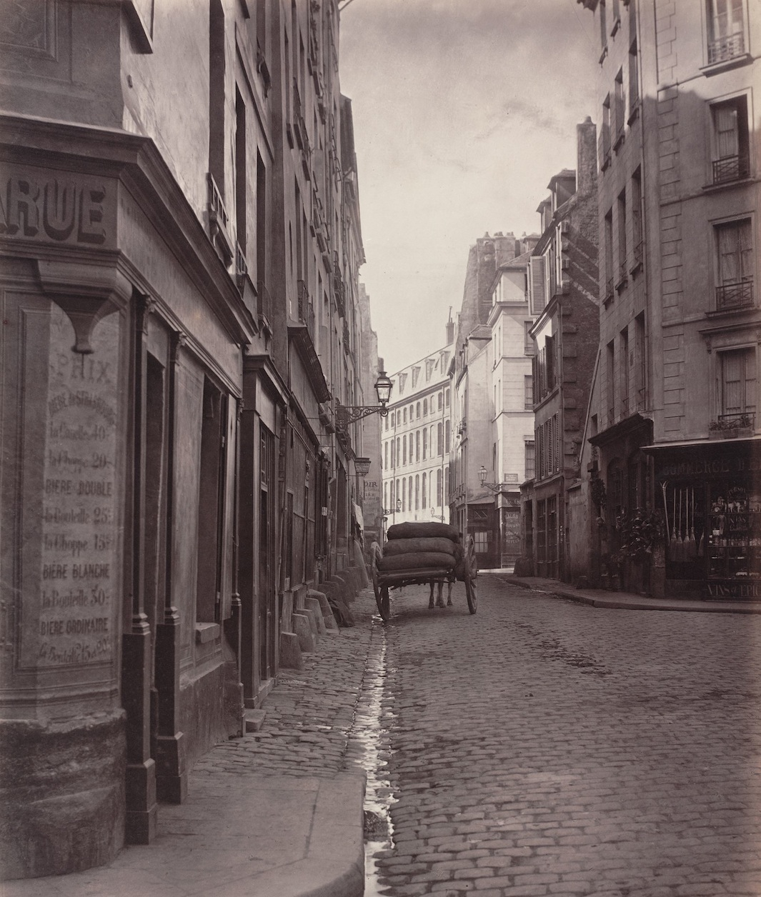 13. Rue de la Bûcherie from the cul de sac Saint-Ambroise (Fifth Arrondissement), 1866-68
