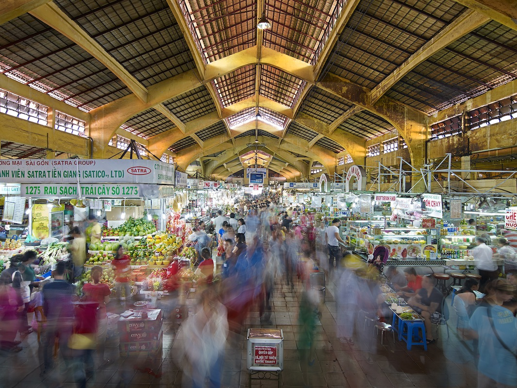 Ben Thanh Market, North Entrance, Saigon, Vietnam - 2013