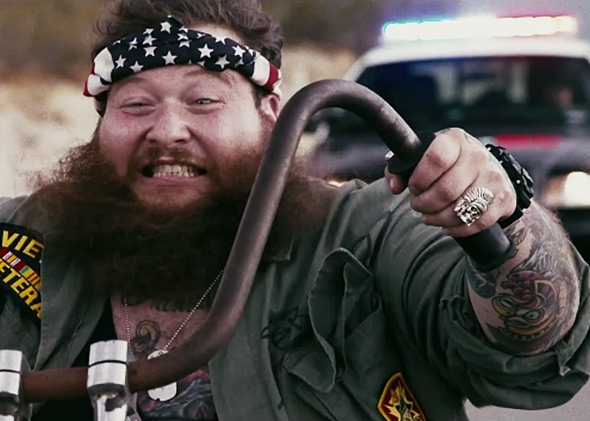 "Action Bronson in the ""Easy Rider"" video"