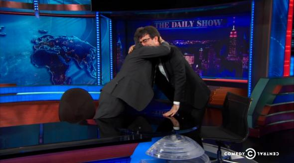 Jon Stewart and John Oliver on The Daily Show last night
