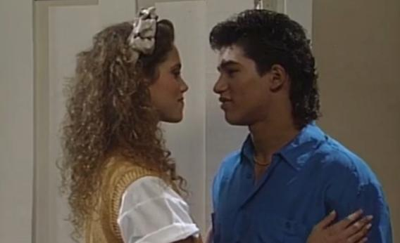 Jessie Spano and A.C. Slater on Saved by the Bell