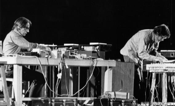 John Cage performs in 1971