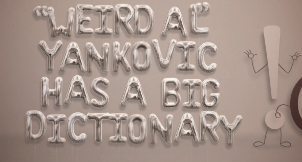 "Weird Al Yankovic ""Word Crimes"" video"