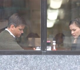 Matt Damon and Anna Paquin in Margaret.
