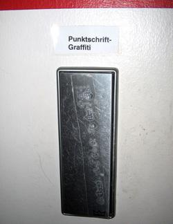 German braille graffiti
