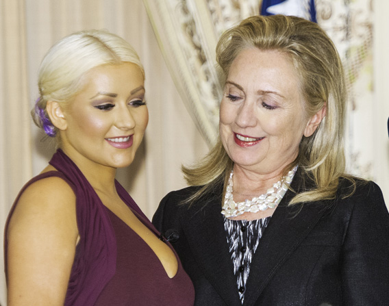 Christina Aguilera and Hillary Clinton.