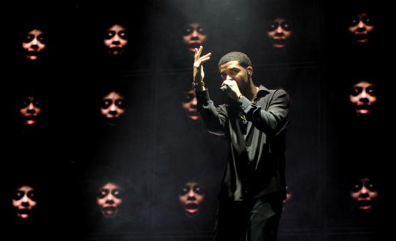Drake in Los Angeles in 2012