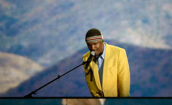 Frank Ocean performs at the Grammys.