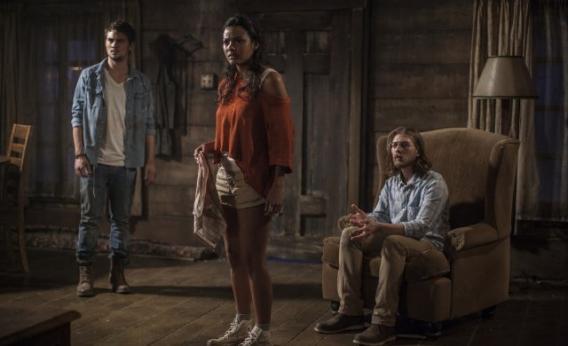 Lou Taylor Pucci, Jessica Lucas, and Shiloh Fernandez in Evil Dead