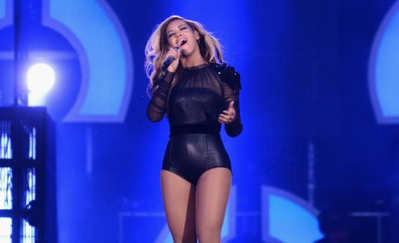 Beyoncé performs at the Chime For Change concert for women's empowerment in London.