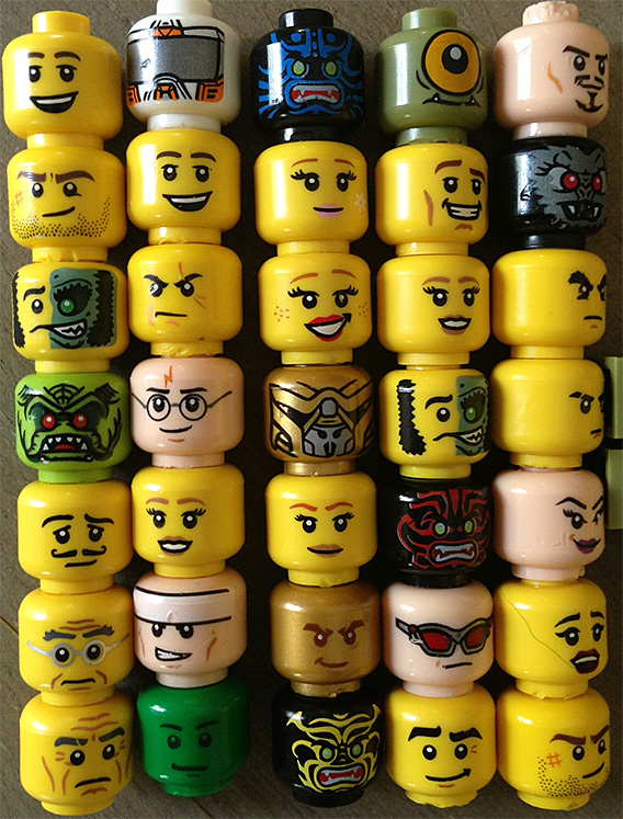 Lego faces angrier? New study says fewer smileys, more mad expressions ...