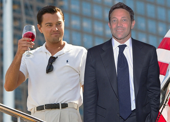 Nadine Belfort Miller Light As jordan belfort, right