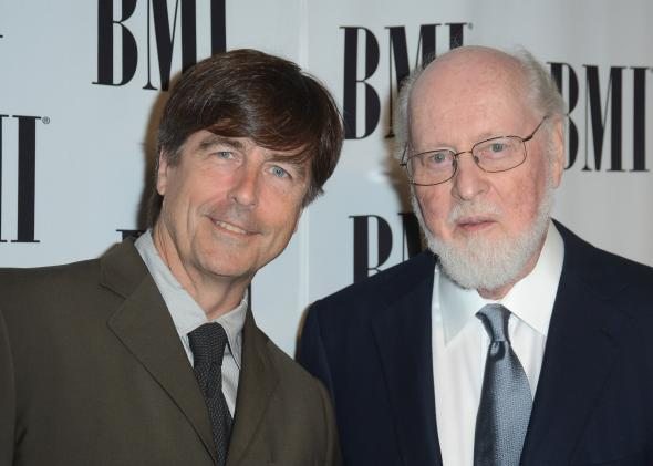 144650170-composers-thomas-newman-and-john-williams-arrive-at-the