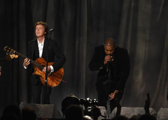 Paul McCartney and Kanye West at the Grammys