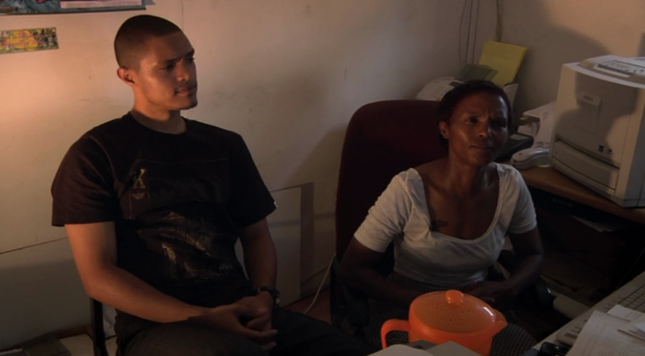 Trevor Noah and his mother Patricia in You Laugh But It's True, now streaming on Netflix.