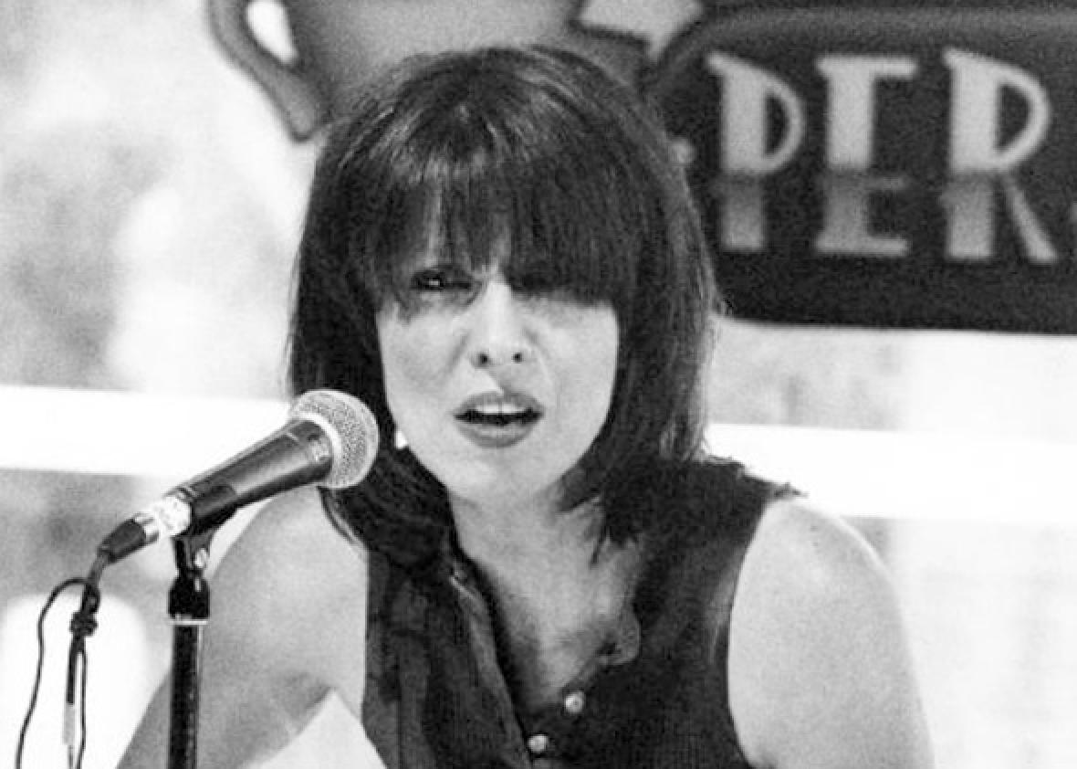 Chrissie Hynde in a daring sleeveless look on Friends in 1995.