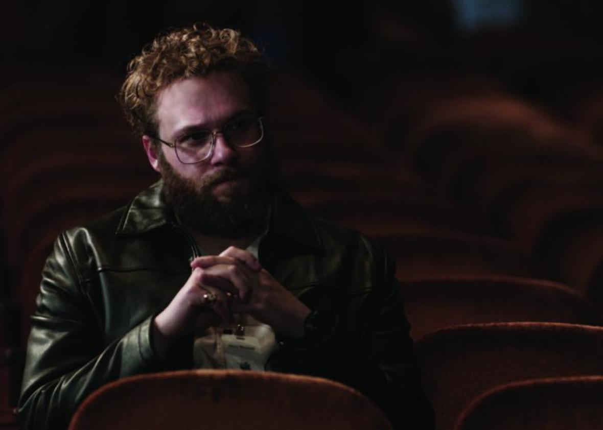 Still of Seth Rogen in Steve Jobs.