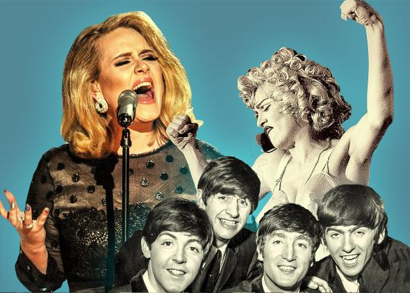 adele, the beatles and madonna.