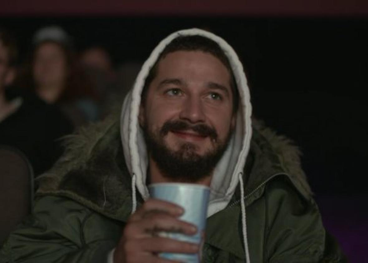 How Shia LaBeouf reacted to all of his movies at #AllMyMovies.