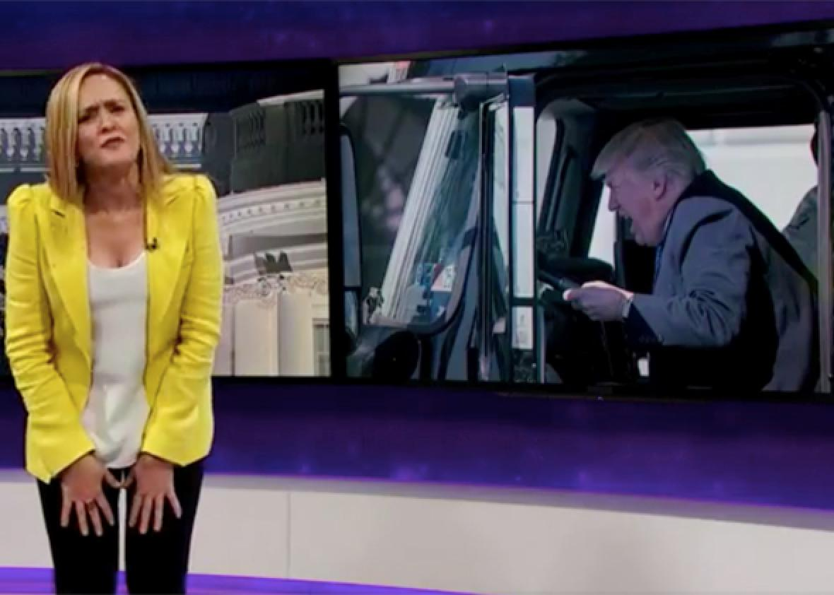 Samantha Bee blasts Trump's 'clusterf--- of impulsiveness' with James Comey