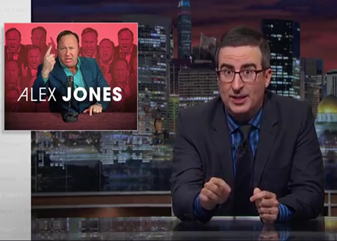 John Oliver Cleverly Helps Doctors Without Borders in Alex Jones Story