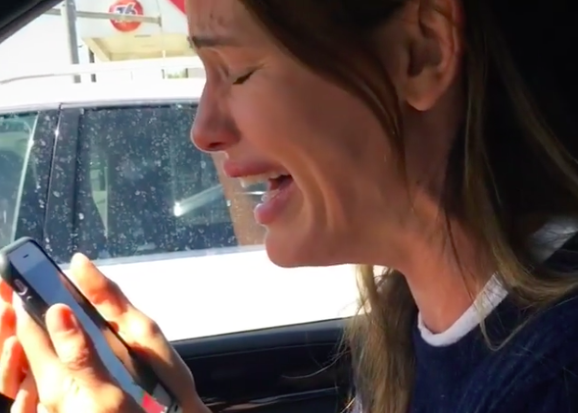 Watch Jennifer Garner sob about Hamilton while on laughing gas