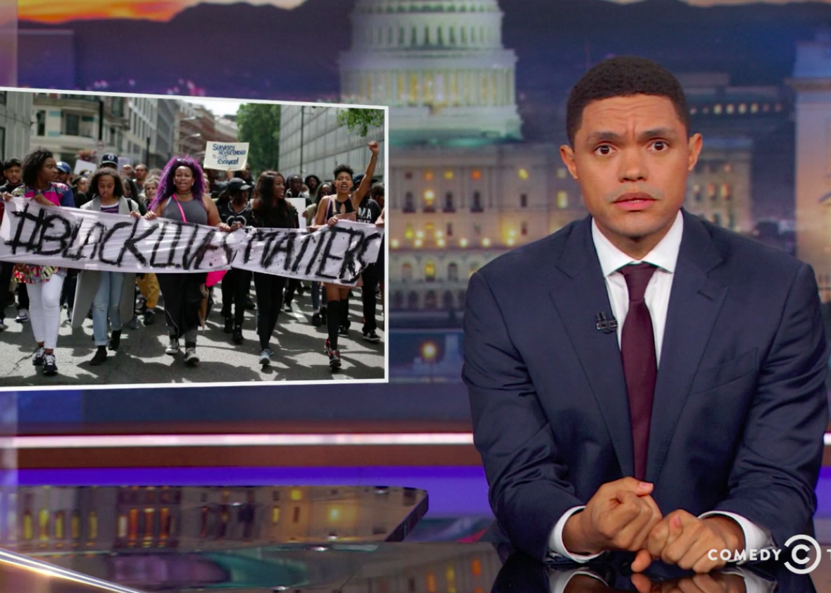 Trevor Noah wants to know when Black people can actually protest