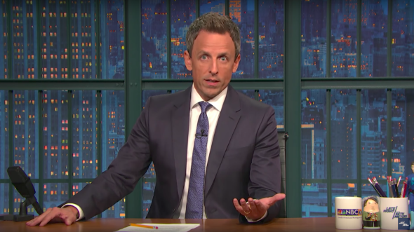 Seth Meyers Dares Republicans in Congress Following Las Vegas Massacre
