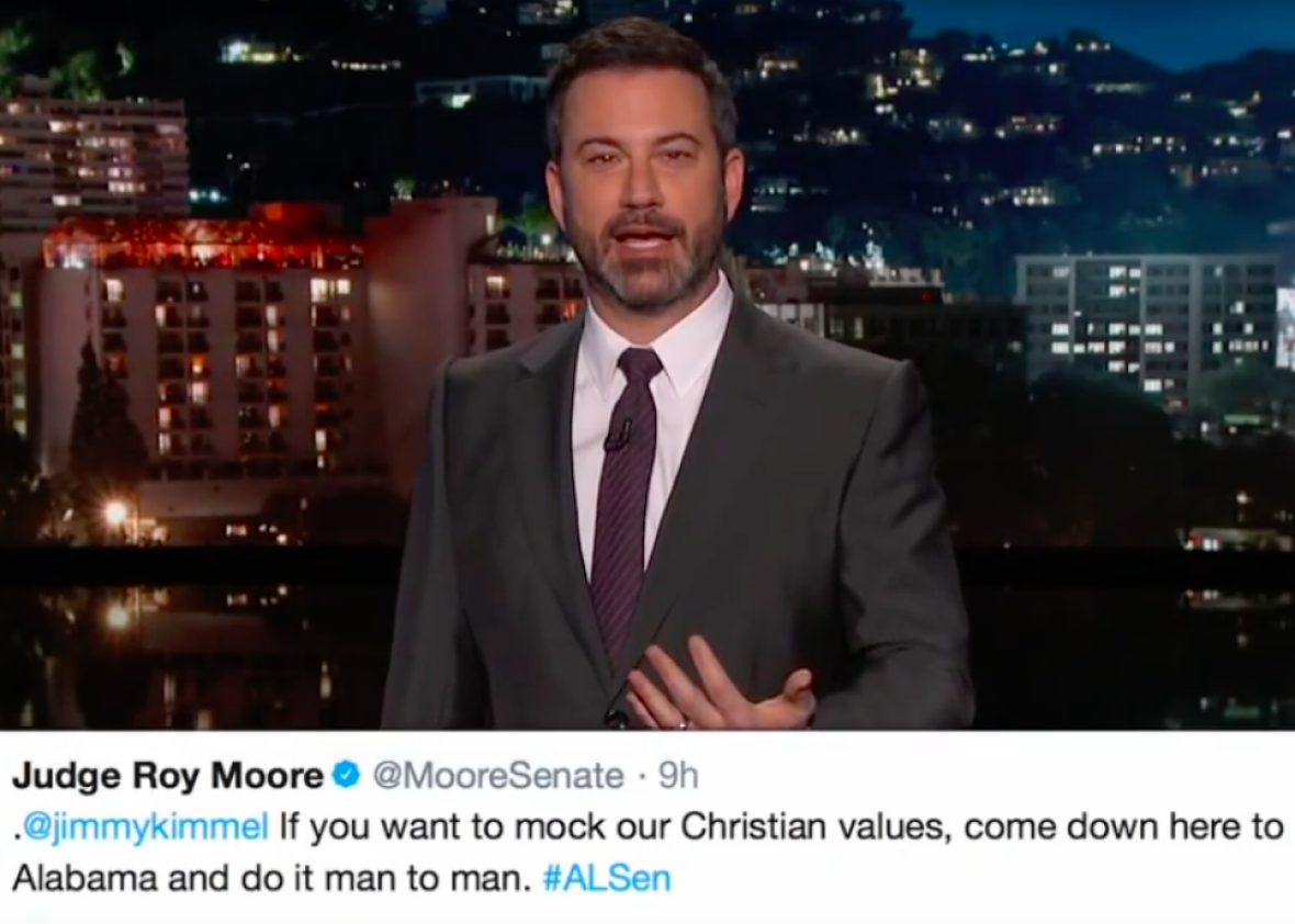 Jimmy Kimmel Teaches Roy Moore a Thing or Two About