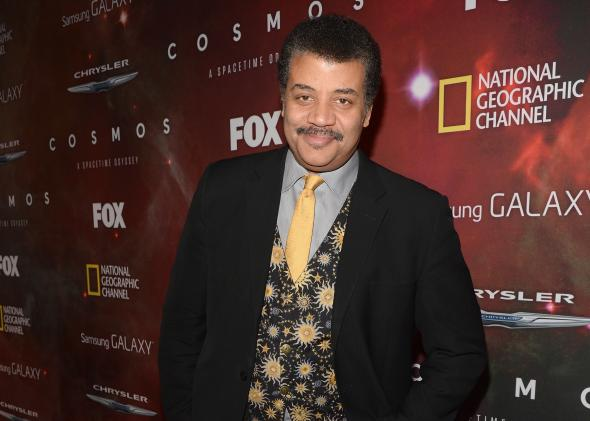Host Neil deGrasse Tyson attends the premiere of Cosmos at The Greek Theatre on March 4, 2014, in Los Angeles.